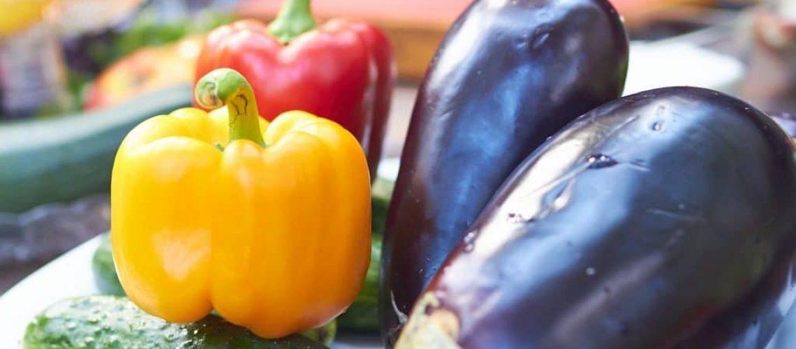 Ingredients: peppers, eggplants, cucumbers